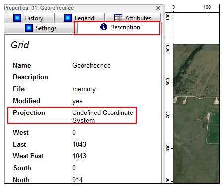 coordinate description box