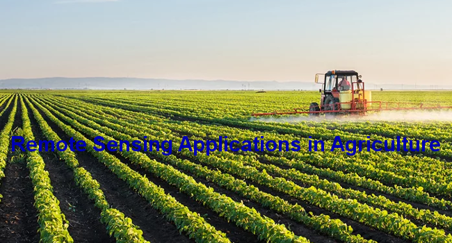 Remote Sensing Applications in Agriculture