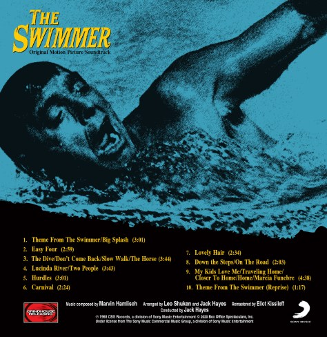 The Swimmer 1968 cd soundtrack Marvin Hamlisch