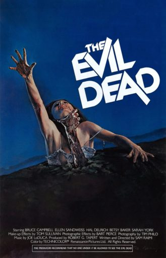 EVIL DEAD 1981 theatrical one-sheet for Grindhouse Releasing Fathom Events