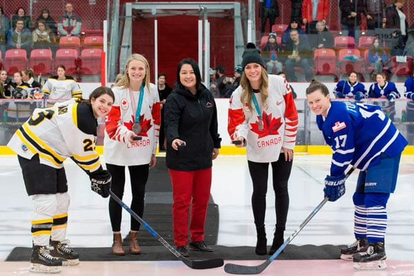 Team Canada Women's Hockey and Grindstone