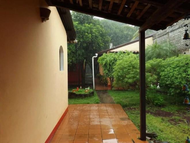 Rain in Courtyard Granada, Nicaragua