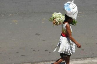 Woman Balancing Stuff on Head Granada, Nicaragua