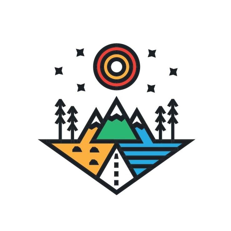 Illustrative icon logo design