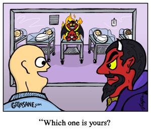 Devil Baby Hospital Waiting Room Cartoon