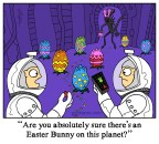 Alien Easter Egg cartoon