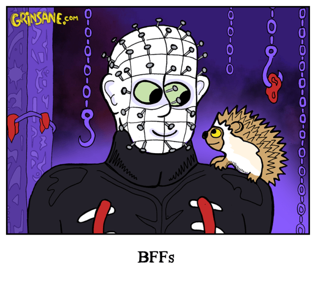Hellraiser Hedgehog Cartoon