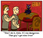 Russian Roulette Cat Cartoon
