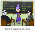 Speech Therapy for Silent Killers Cartoon