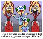 Serial Killer Family Tradition Cartoon