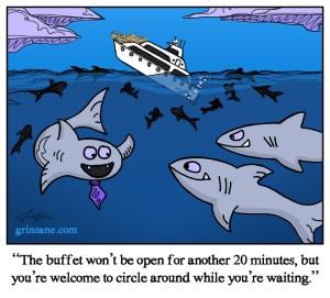 Seafood Buffet Shark Week Cartoon