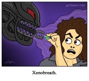 Alien Bad Breath Xeonomorph Cartoon