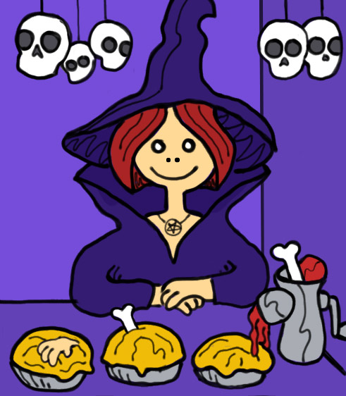 Witch Brenda and her baked goods