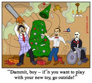Texas Chainsaw Leatherface Holiday Cartoon