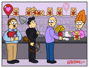Cupid and Psycho Valentine Cartoon