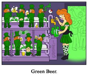 Green Beer Leprechaun Cartoon