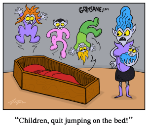 Vampire Children Coffin Cartoon