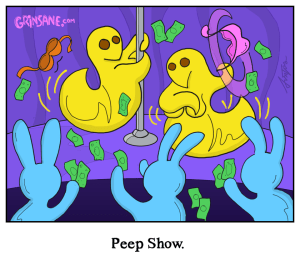 Peep Show Peeps Cartoon