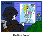 The Grim Peeper Cartoon