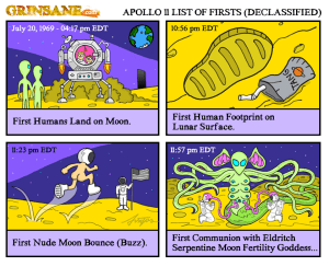 Apollo 11 Moon Landing Cartoon