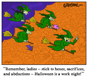 Halloween Witches at Work