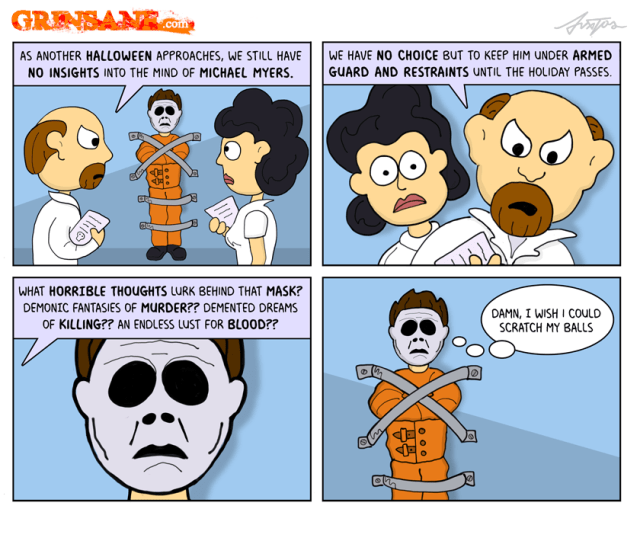 Michael Myers Insane Asylum Cartoon