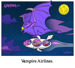 Vampire Airlines Cartoon