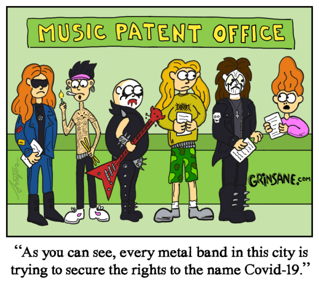 Covid-19 Heavy Metal Cartoon