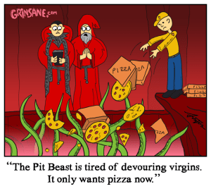 Pit Beast Pizza Cult Cartoon