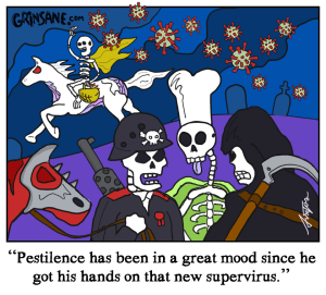 Pestilence Coronavirus Cartoon