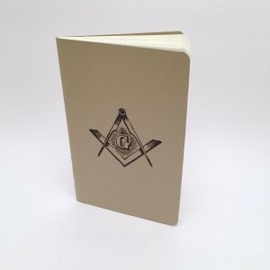 Photo of a Square and Compasses pocket journal