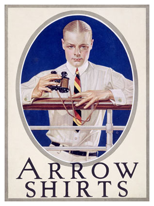 Arrow Shirt Advertisement from the 1920s by J.C. Leyendecker