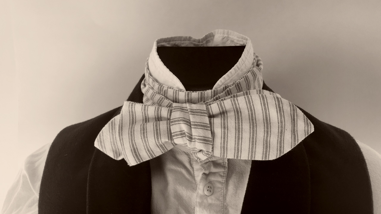 Photo of a 19th century style cravat