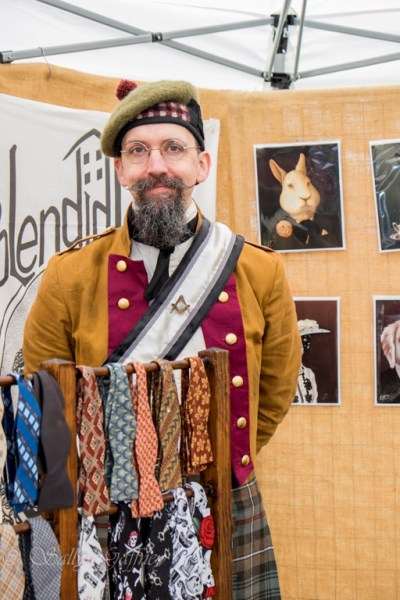 Photo of finished jacket with Knights Templar-style baldric at Watch City Steampunk Festival