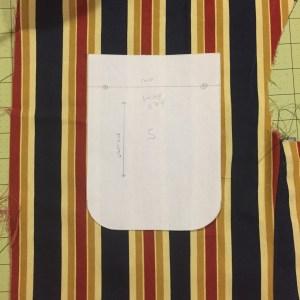 Photo of custom-drafted breast pocket