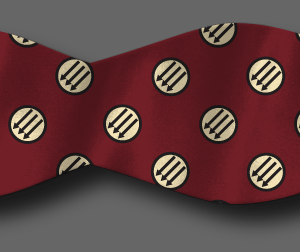 Red Anti-fascist bow tie mockup