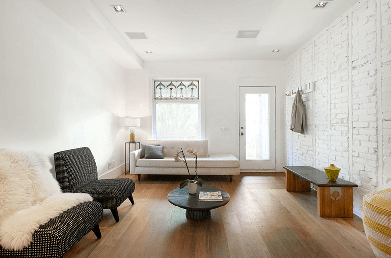 fabulous living room painted white brick wall   30 Best Ideas About Living Rooms with White Brick Walls