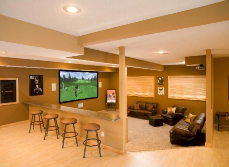 basement rec room flooring ideas