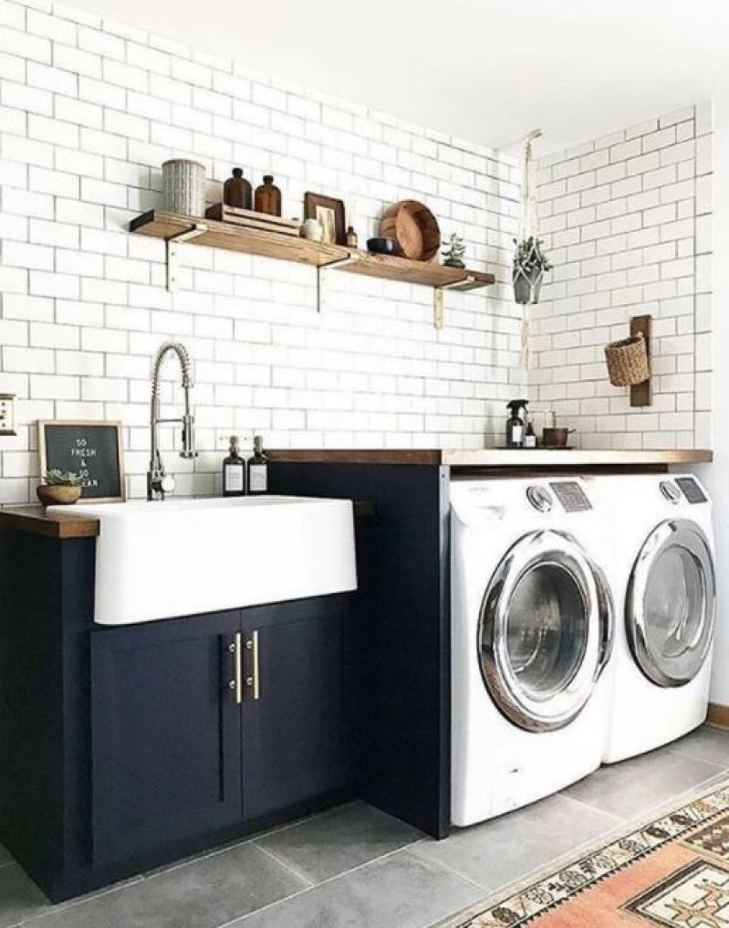 37 Unique and Cool Basement Laundry Room Ideas, Remodel ... on Amazing Laundry Rooms  id=56887