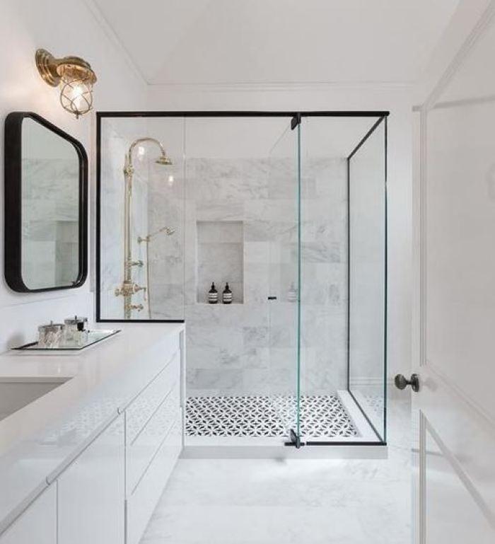 white basement bathroom