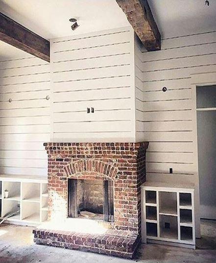 foundation of fireplace