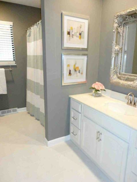 grey small bathroom designs
