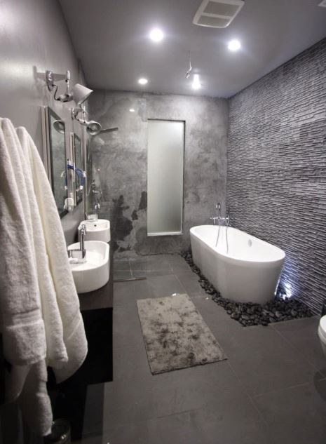 grey tile bathroom shower ideas