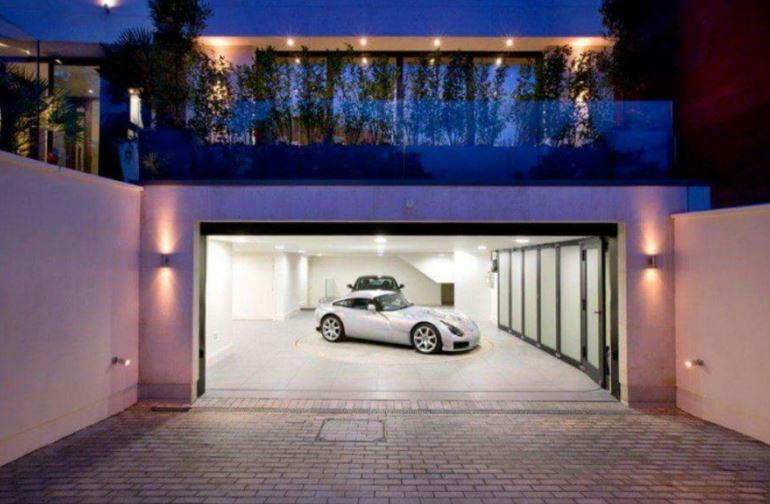 inside garage lighting ideas