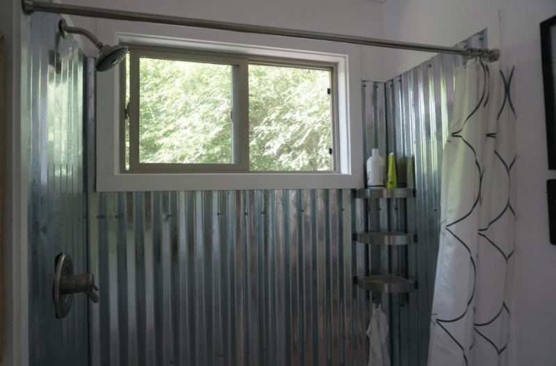Corrugated Metal shower ideas