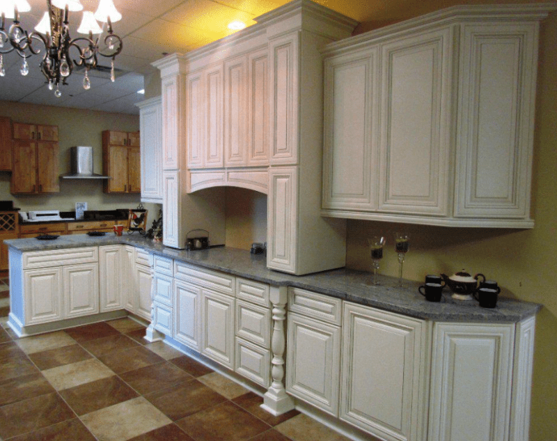 Antique white kitchen