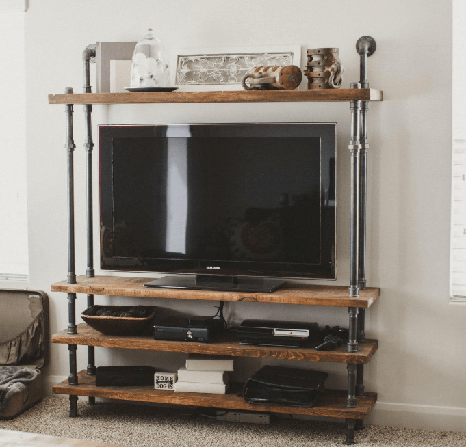 Pipe tv stand