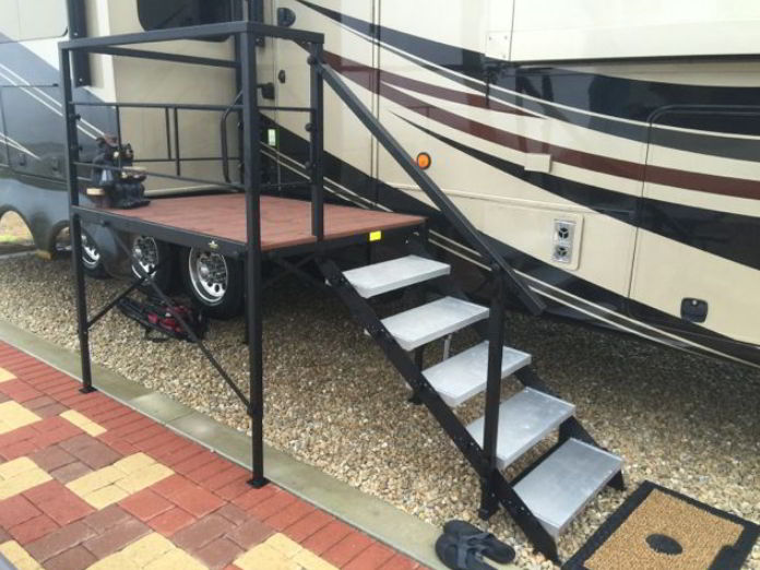 Simple Iron RV Deck
