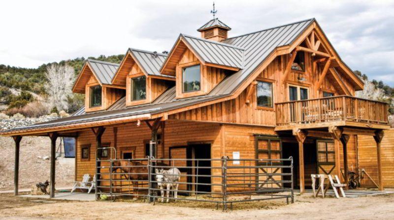 Wooden exterior barn