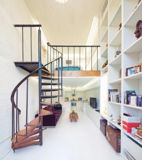 Compact Loft Staircase Design